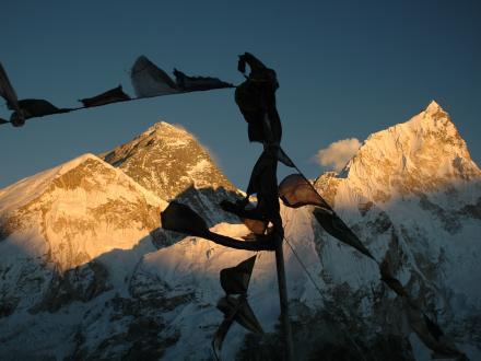 Mount Everest Sonnenuntergang