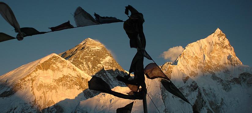 Blick vom Kala Pathar zum Mount Everest Sonnenuntergang