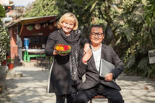 Bijay und Ines Eigentümer von Nepal Himalaya Reisen Leipzig - Kathmandu