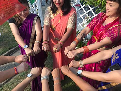 frauen-in-sari-teej-festival-nepal